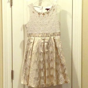 Gold and Cream My Michelle Dress